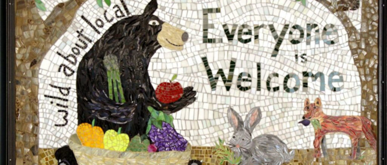 Wild about Local: Entryway Mural at River Valley Co-Op in Northampton