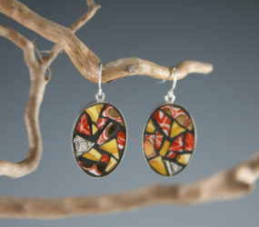 Patterned Teacup Earrings
