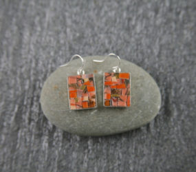 Sunset Teacup Earrings
