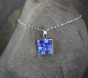 Blue Smalti Mosaic Necklace