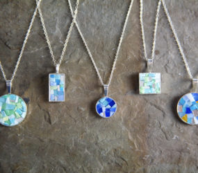 Collection of Blues: Smalti Mosaic Necklaces