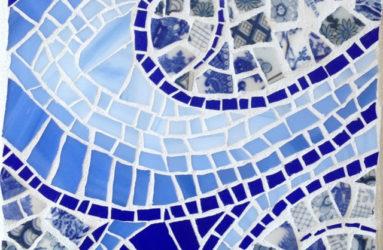 Blue & White Swirl